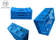 Large Large Plastic Folding Storage Boxes For Homes / Restaurants 600 * 400 * 250