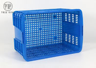 Heavy Duty Mesh Plastic Stacking Crates On Wheels 620 * 445 * 350mm C580 Customized