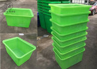 90 Liter Poly Box Truck Recycling Open Top Water Tank With Wheel And Lids