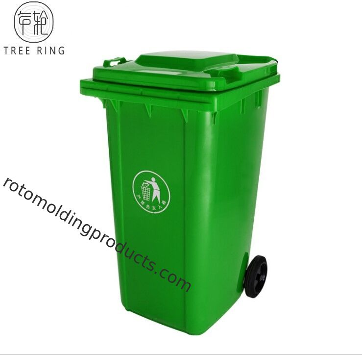 Red / Green Plastic Rubbish Bins , 240 Liter Waste Wheelie Bin For Recycling Paper