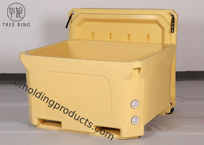 Over 1000qt High Performance Ice Coolers For Frozen Seafood Shipping Pallet Truck Bottom