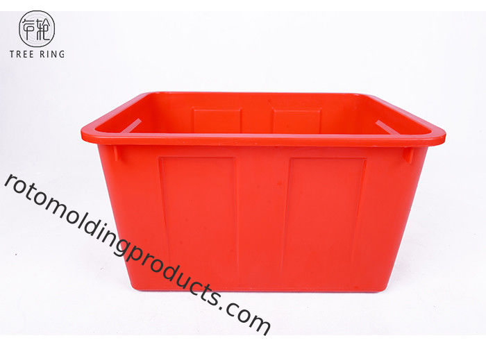 Customized  Blue Plastic Storage Bins Outer Recycling  W70 510 * 380 * 290 Mm