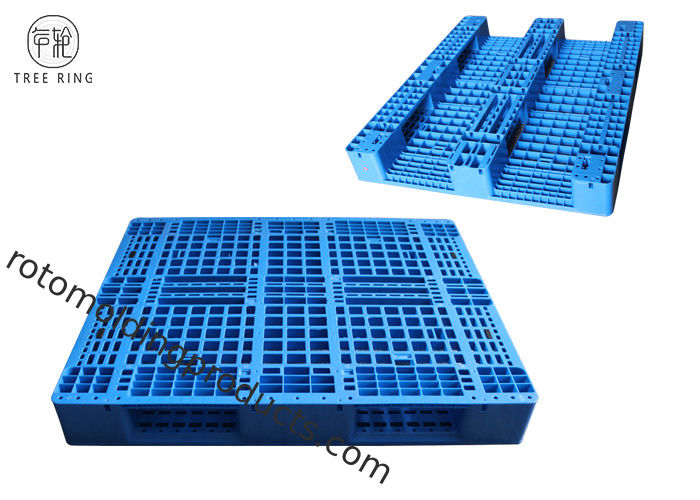 "40"" X 48""  PP Material Plastic Racking Pallets With Metal Reinforcing Rods 1000kg Rack For Warehouse"