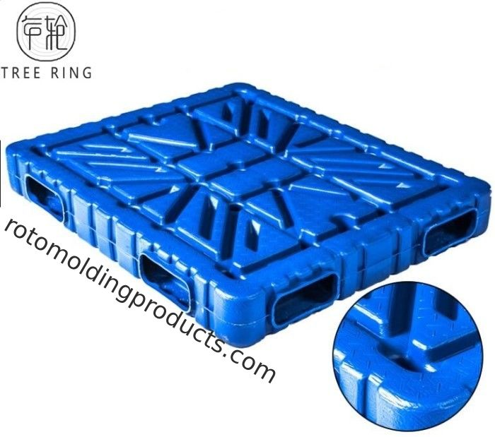 Deck Vacuum Form Plastic Stacking Pallets Double Face Colsed 1500 * 1300 * 150mm