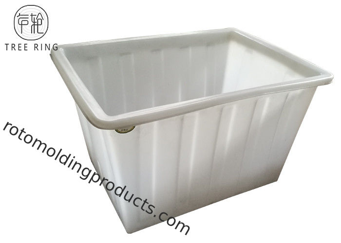 Straight-Sided Industrial Laundry Bins On Wheels 450 Litre Polyethylene Roto Moulded
