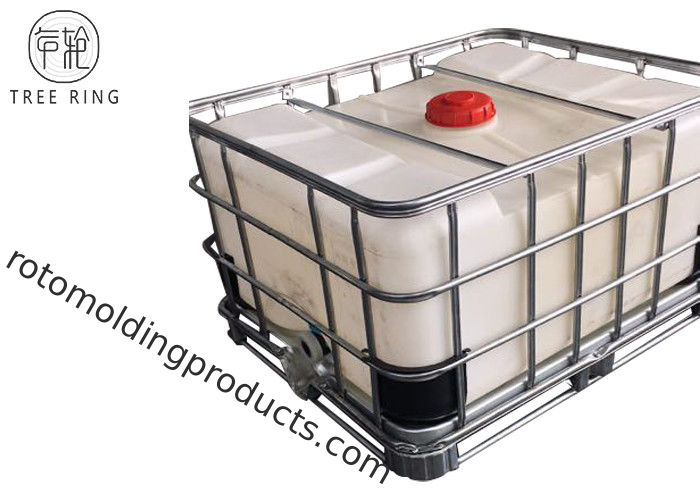 Steel Caged Tote Stackable Ibc Liquid Storage Containers Tanks 500L / 132Gallon LLDPE