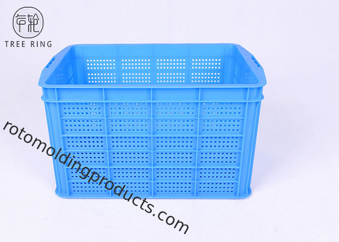 Shallow Draining Collapsible Plastic Crate 520 * 360 * 320 Mm  For Storage C487 Vented