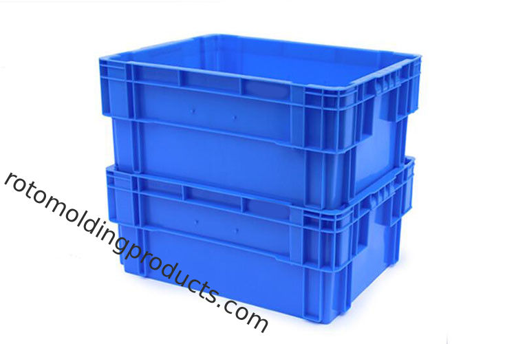 Coloured Returnable Reusable 180º Stacking & Nesting Solid Plastic Fishing Bins Box  600*400*230 mm