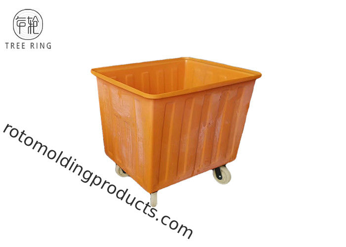 PE Industrial Strength Poly Box Truck Economical Utility Cart For Material Handling