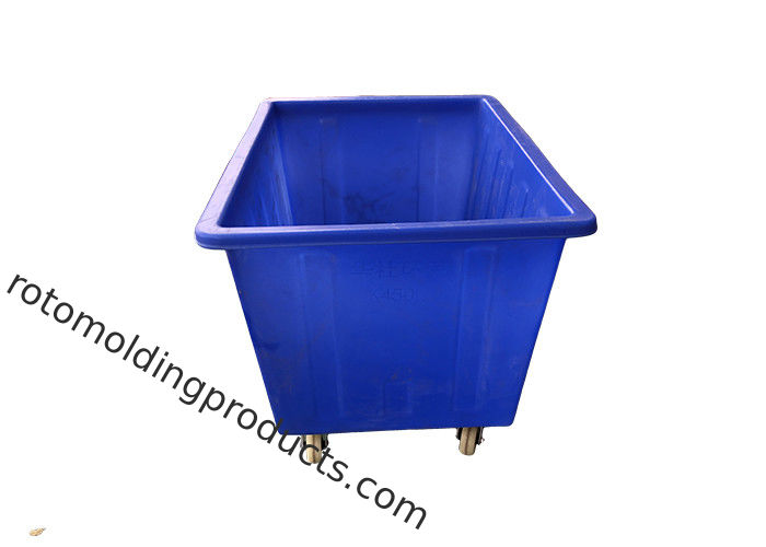 Materials Handling Linen 450L Poly Box Truck Rectangular Tapered Tub Trolleys