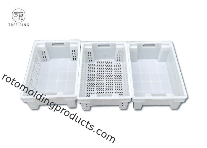 30 Litres Heavy Duty Plastic Stack Nest Containers For General Food Fishing Processing